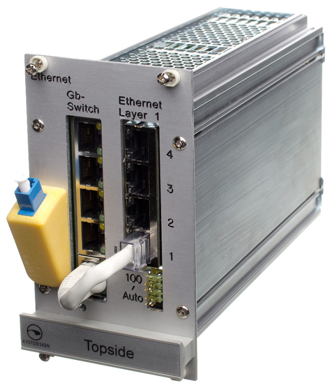 Fiber optic ethernet mux